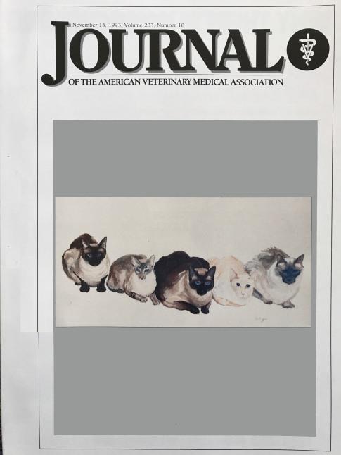 American Veterinary Medical Association Journal - Nov 15, 1993